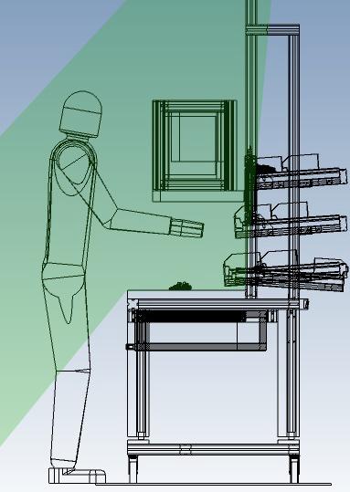 Arbeitstisch-Kinect-Range