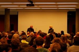 Eröffnungsvorlesung am 20.10.2015 mit Prof. Dr. Oskar Negt und Prof. Dr. Catrin Misselhorn.